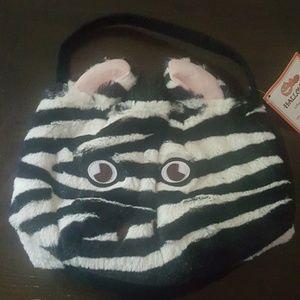 POTTERY BARN Kids zebra treat bag NWT